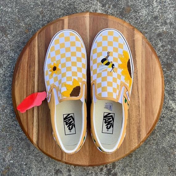 Sunflower \u0026 Bee Vans. Custom Embroidery
