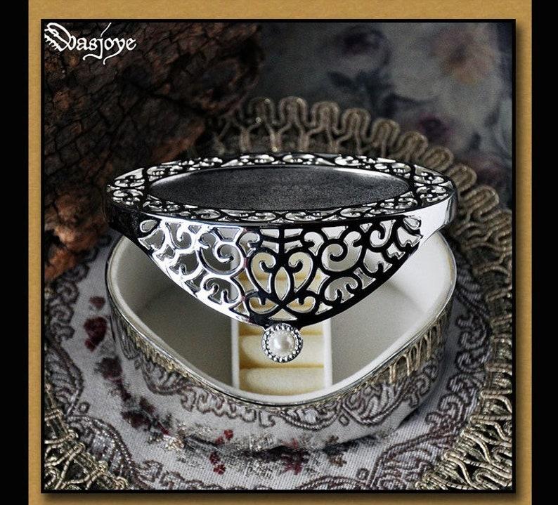 Copper Blue Jewelry keepsake Box Storage organizer Medieval Handmade Gift For HerHim Engagement Vintage Antique Metallic Cute Little Fairy