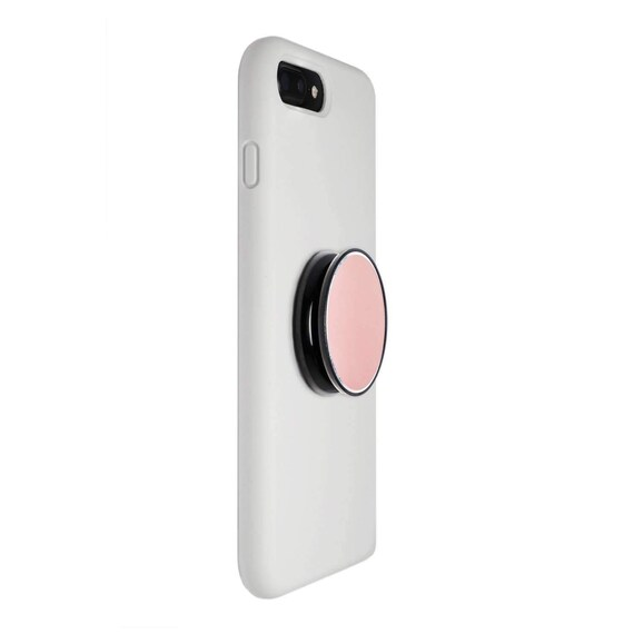 Flexible Soft Middle Allows for a Comfortable fit and Mount Rose Gold Marble Coolgrips Collapsible Magnet Phone Grip Stand Mounts to Any Metal Surface