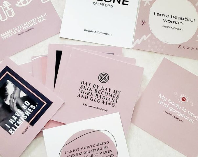 Beauty Affirmation Card Deck - 20 Cards