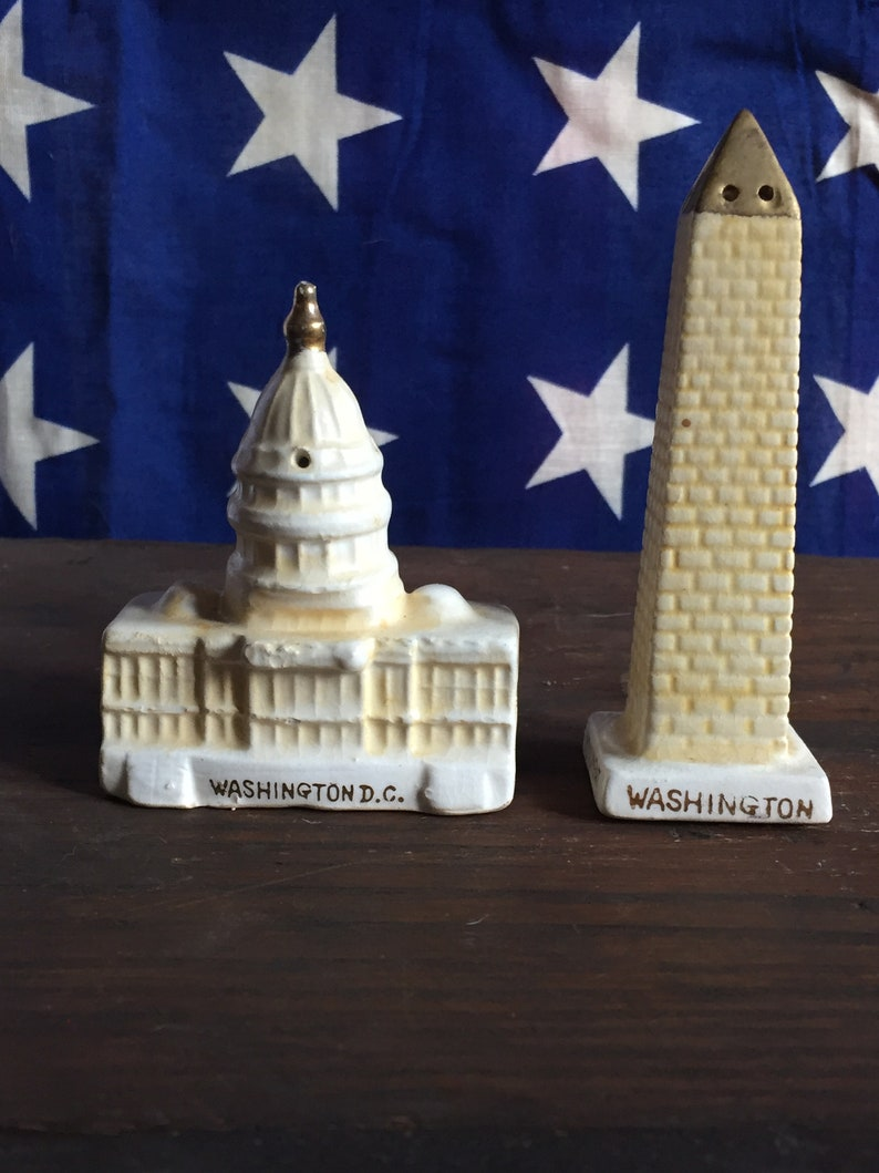 National Monument Salt and Pepper Shakers 1950\u2019s