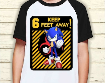 Sonic The Hedgehog Birthday Shirt Etsy