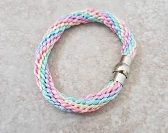 Rainbow Pastel Coloured Bracelet Gift Birthday//Christmas