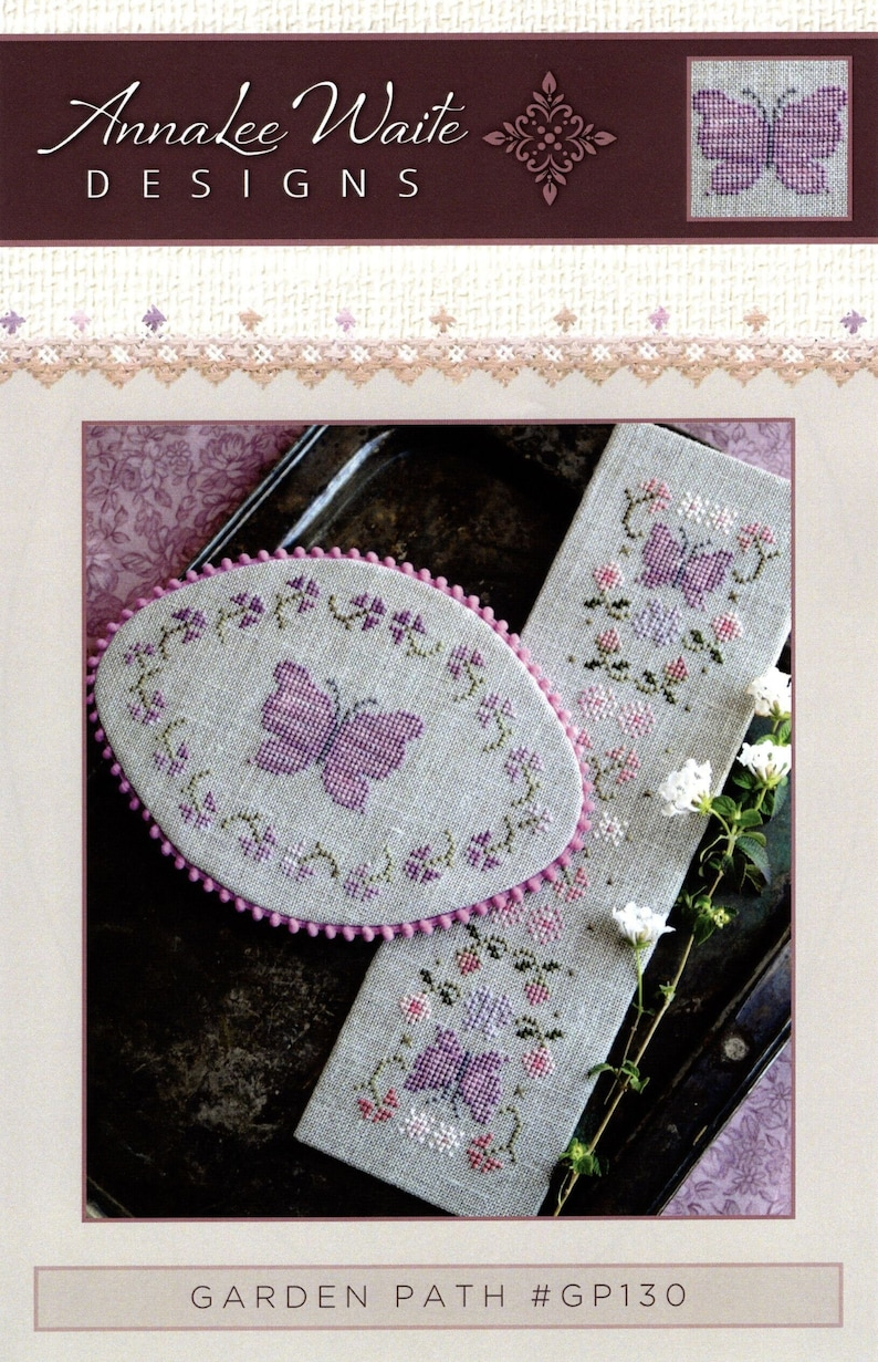 Free and Fast Shipping Annalee Waite Garden Path Cross Stitch Pattern Embroidery Chart
