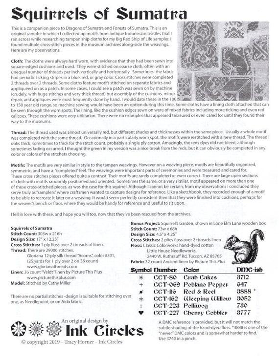PDF Cross Stitch Chart Dragons of Sumatra