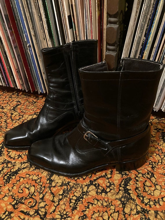 60s 70s Vintage JC Penney Beatle Boots with Side Z
