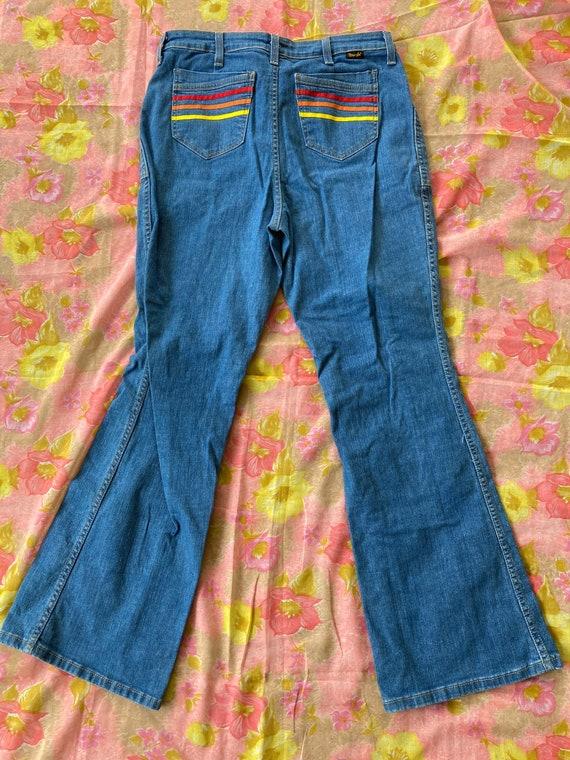 Retro 70s Rainbow Radiance Wranglers Flared Bells