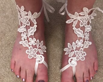 Foot Fetish Anklet and Toe Ring Burgandy