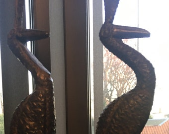 Handcrafted African Bird Statues