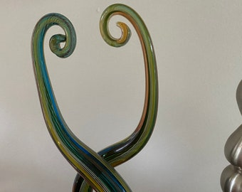 Twisted Glass Sculpture Multi Coloured