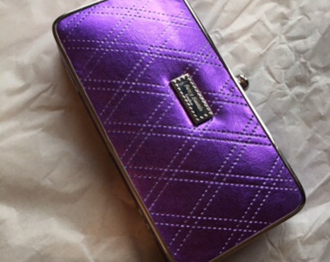 Suzy Smith Purple Clasp Clutch Evening Bag