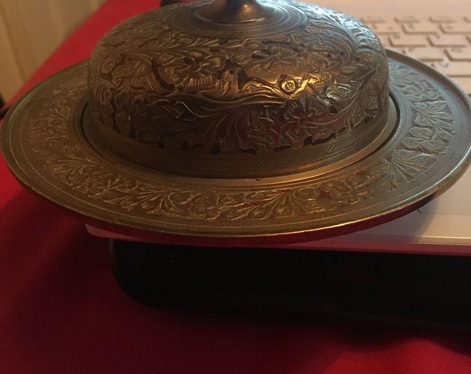 Indian Brass Embossed Trinket Box