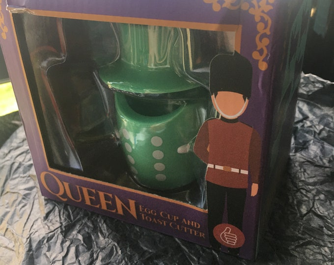 Queen Egg cup and Toaster cutter