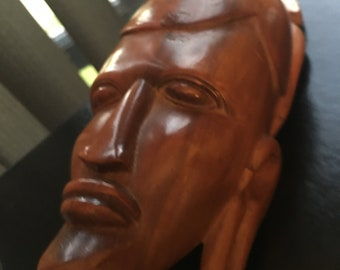 Hand crafted African Head Wall hanging
