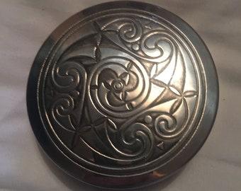Scottish Piper Pewter Celtic Trinket Box