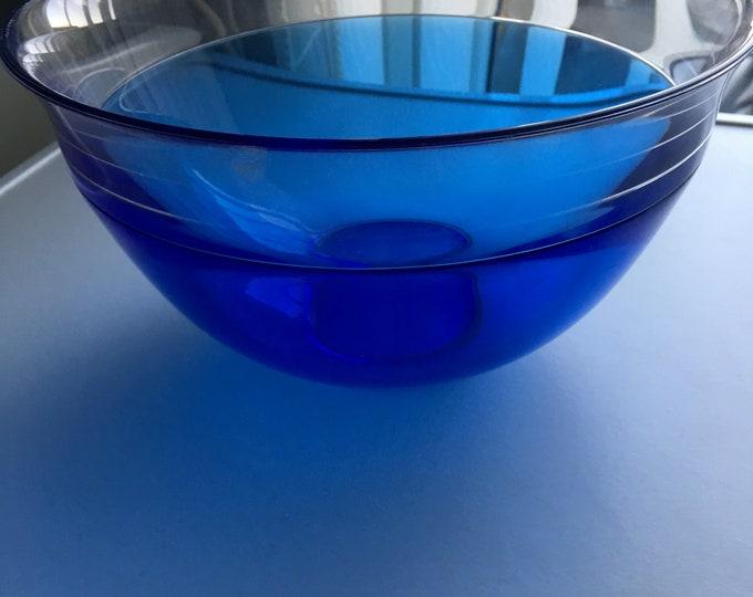 Orrefors Sweden Blue Bowl