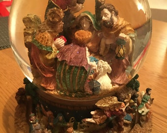 Large Snow Globe Nativity Scene