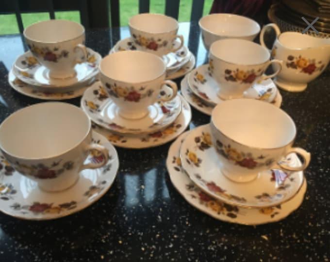 Colclough Tea cup saucer and plate set