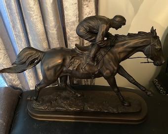 Leonardo collection Horse and Rider figurine