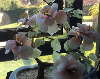 Jade bonsai tree ornament