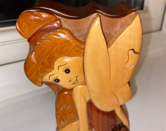 Tinkerbell Wooden Puzzle Jewellery Box