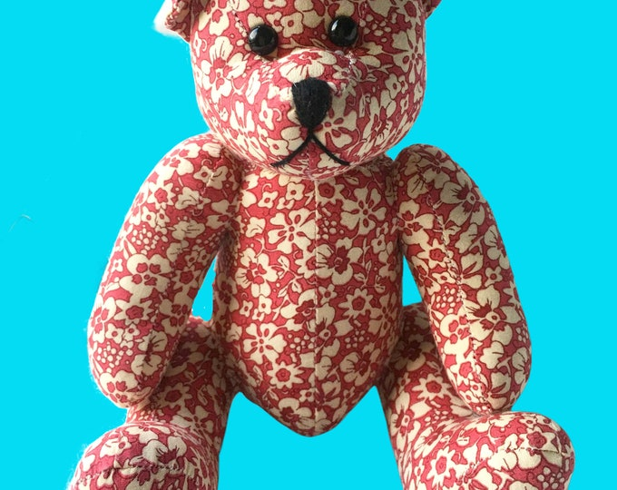 Featured listing image: Red Fabric Bear