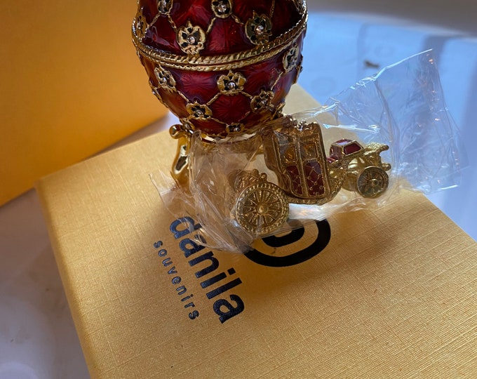 Faberge Style Trinket Egg with Carriage