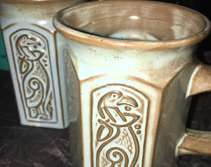 Tyn Llan Pottery Griffin Mugs PAIR
