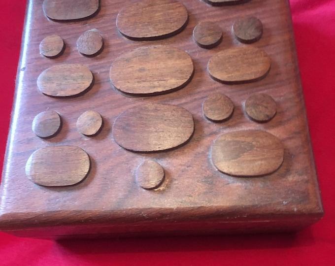 Wooden Bubble Trinket Box