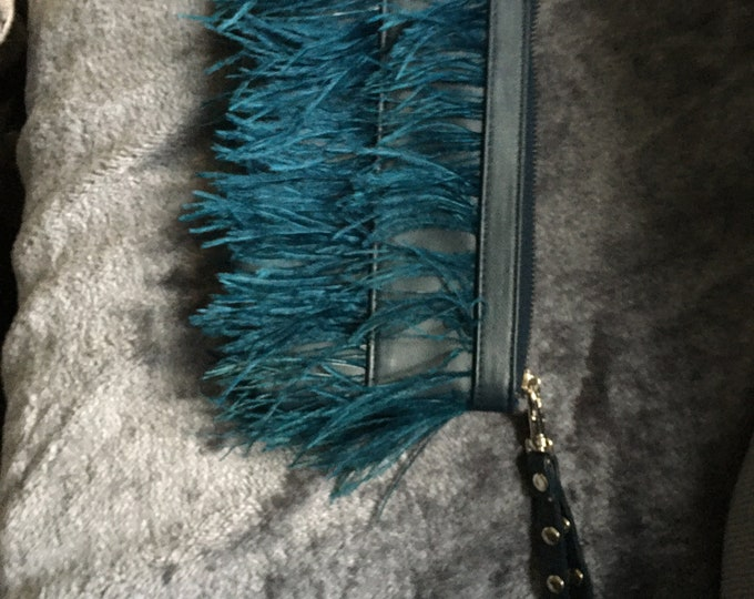 Mimi and Thomas Leather Clutch bag