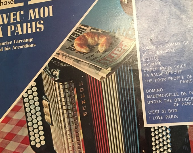 Maurice Larcange Avec Moi a Paris Vinyl LP