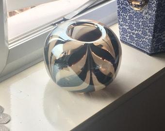 Glass Striped Bowl