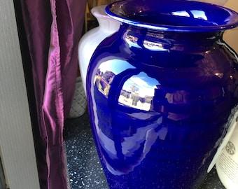 Large Cobalt Blue Vase ATN Italian Pottery