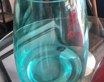 Green Handmade Glass Vase