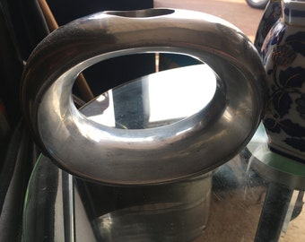 Silver Oval Candle holder