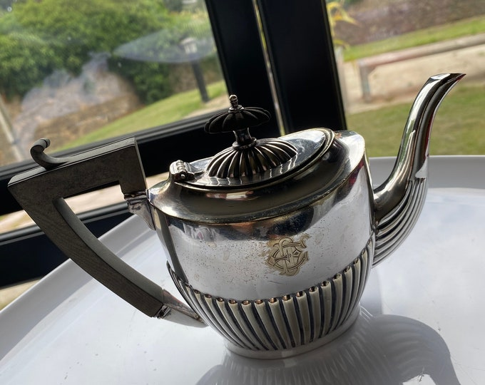 Silver Plated Fluted Tea Pot