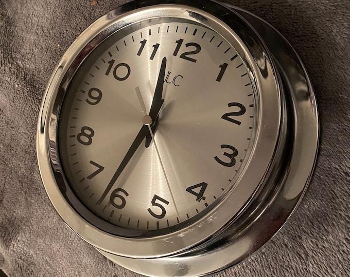 LC Silver Porthole Wall Clock