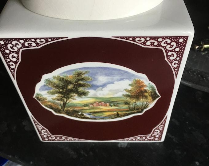 Royal Cauldron Bristol Ironstone Tea caddy