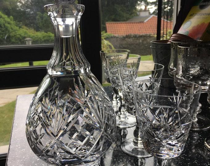 Brierley Crystal Decanter Set