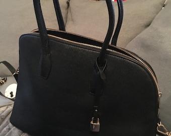 H and M black tote bag