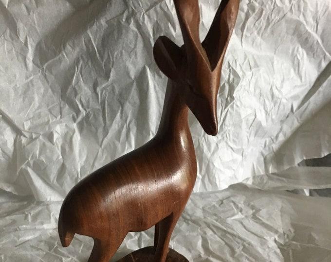 Wooden Deer Figurine