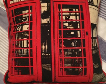 Red Telephone Box Cushion