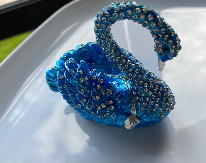 Swan Trinket Ring Box