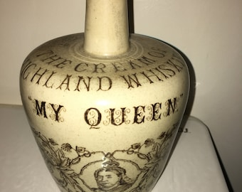 My Queen Jubilee Whisky Flagon
