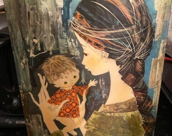Mother with Child Wall Panel