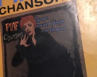 Edith Piaf Chansons Vinyl LP
