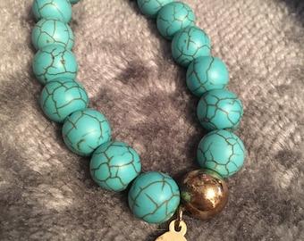 Buckley Turquoise Bead Bracelet