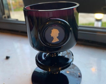 Wedgwood Queen Elizabeth Jubilee Sherrington Candle Holder