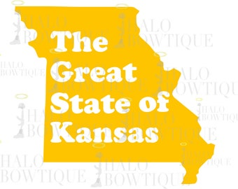 The Great State of Kansas SVG