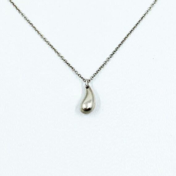 Tiffany & Co Elsa Peretti sterling silver teardrop